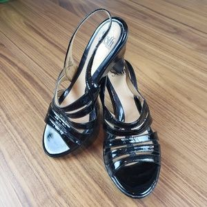 Sofft Black Strappy Heels Size 9